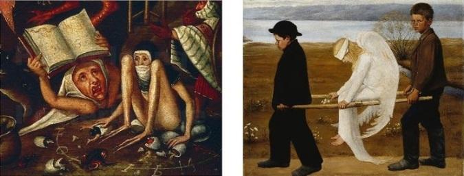 Hieronymus Bosch (1452-1516)  Hugo Gerhard Simberg (1873-1917)