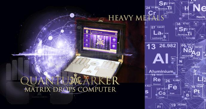 Quantum marker - Heavy metal - Matrix Drops Computer