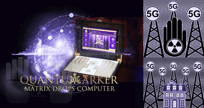 Matrix Drops Quantum marker - Electrosmog