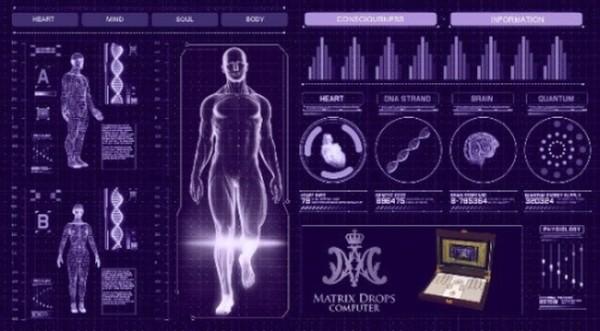 Vírusok mérése Matrix Drops Computerrel