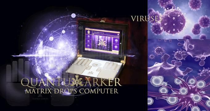 Quantum marker - Virus Matrix Drops Computer