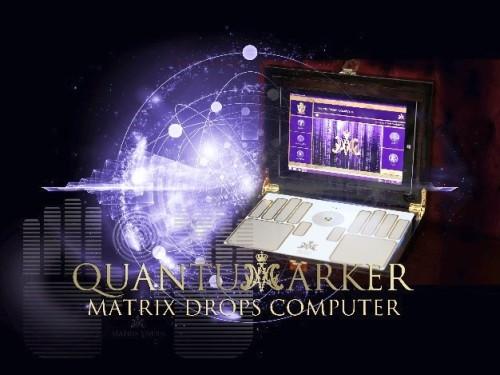 Matrix Drops Computer - Quantum marker